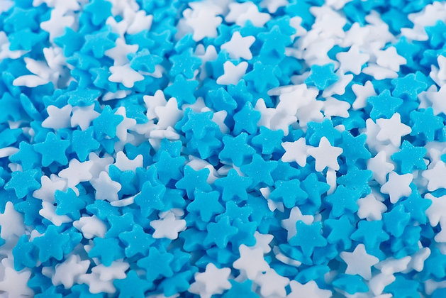 סוכריות כוכב כחול לבן 7 ממ
