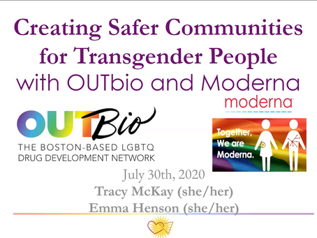 Creating safer communities for transgender people