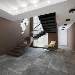 Холл 1 этаж Лестница