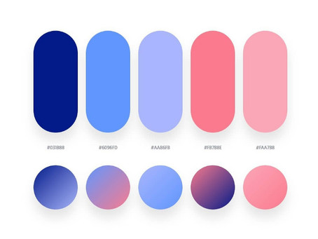 32 Beautiful Color Palettes With Their Corresponding Gradient Palettes