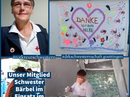 Schwester Bärbel im Einsatz im Ahrtal