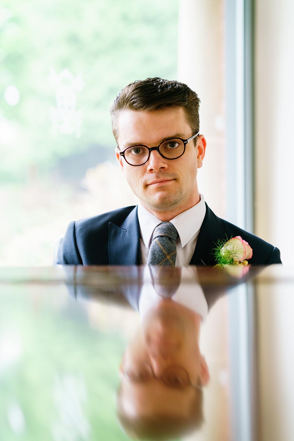 The lucky groom!