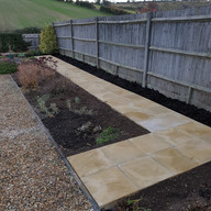 Yellow tone sandstone path Dorset