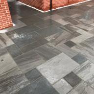 Natural grey slab patio