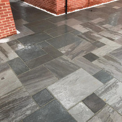 Natural grey slab patio