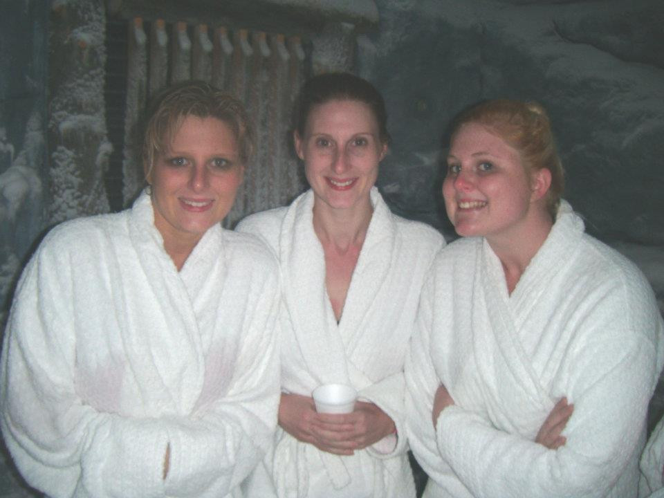 Three sisters at a spa hen weekend