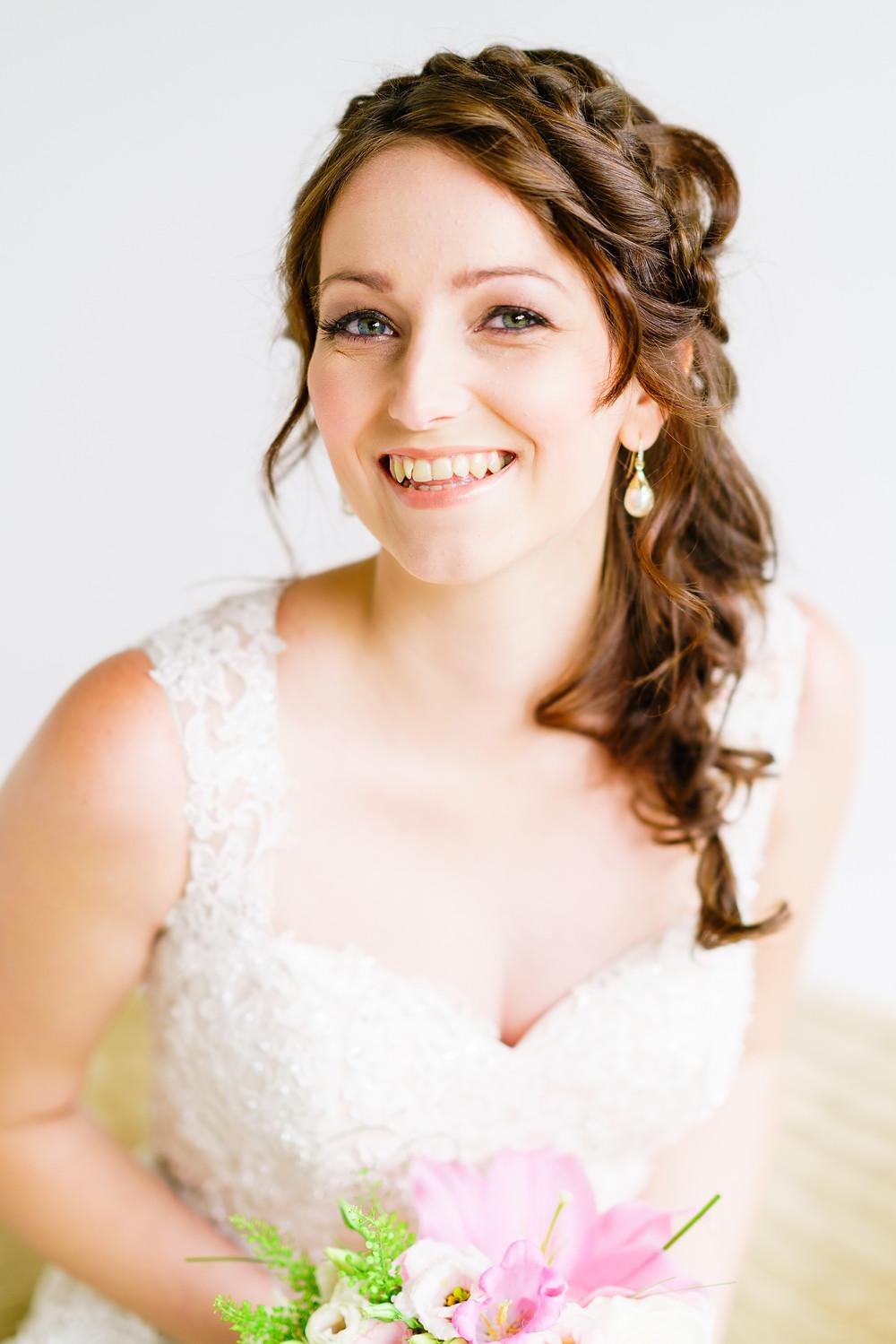 Romantic and pretty bride