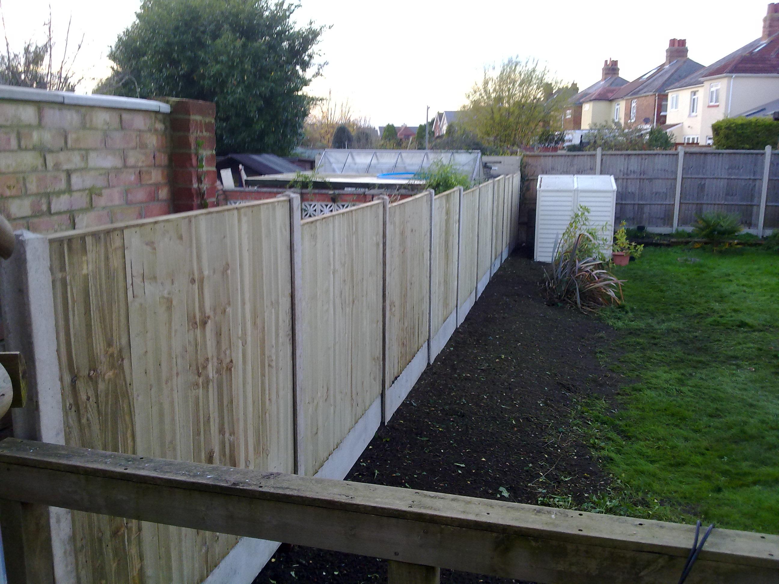 Wood Fence in Dorset