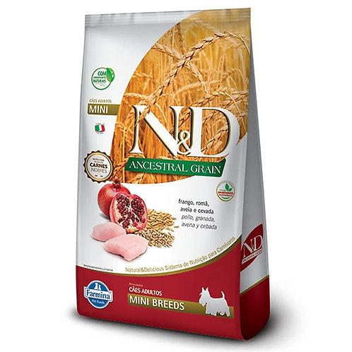Ração N&D Ancestral Grain Cães Adultos Mini Frango (257524 / 257525)