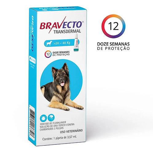 Antipulgas Bravecto Transdermal 1000mg Cães 20 a 40kg (292986)