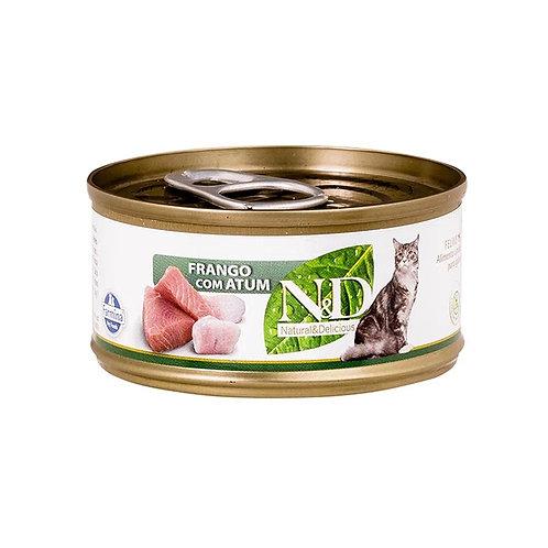 Alimento Úmido N&D Feline Frango com Atum