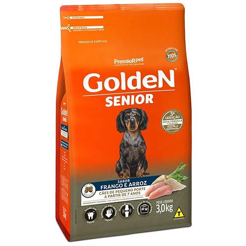 Ração para Cães Sênior Raças Pequenas Golden Fórmula Frango e Arroz