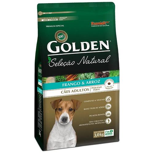 Ração para Cães Adultos Raças Pequenas Golden Seleção Natural Frango e Arroz