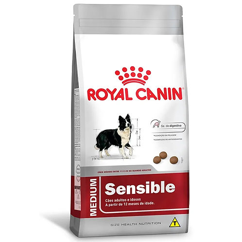 Ração para Cães Adultos Raças Médias Royal Canin Sensible (270494)