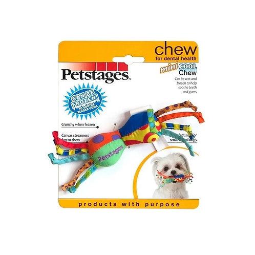 Brinquedo para Cachorro Mini Halteres Geladinho com Fitas Cool Chew Mini Petstag