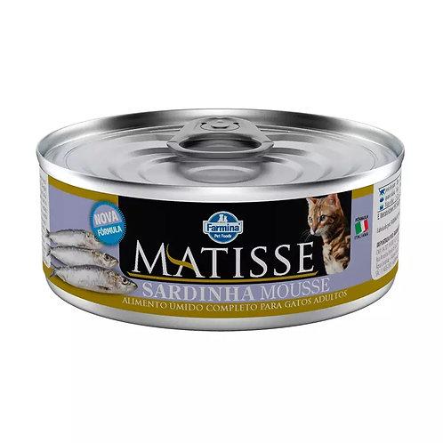 Ração Úmida Lata Matisse para Gatos Mousse Sardinha 85g