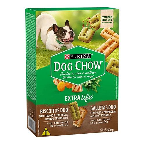 Biscoito Dog Chow Cães Adultos Frango e Espinafre