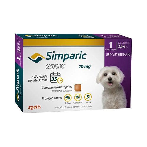 Antipulgas Cães Simparic 10mg 2,6 à 5kg Zoetis (258286)