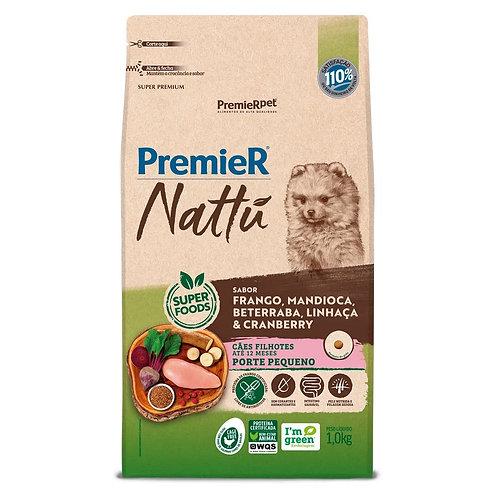 Ração Premier Nattu Cães Filhotes Mandioca Pequeno Porte