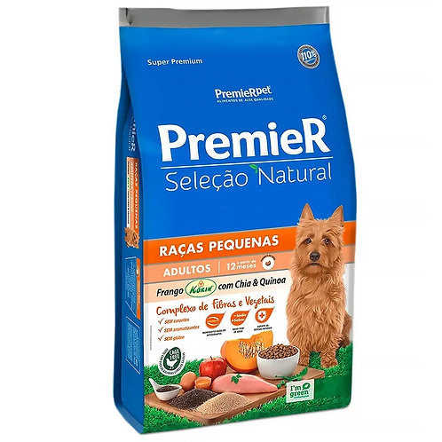 Ração Premier Cães Adulto Seleção Natural Raças Pequenas Frango, Chia & Quinoa