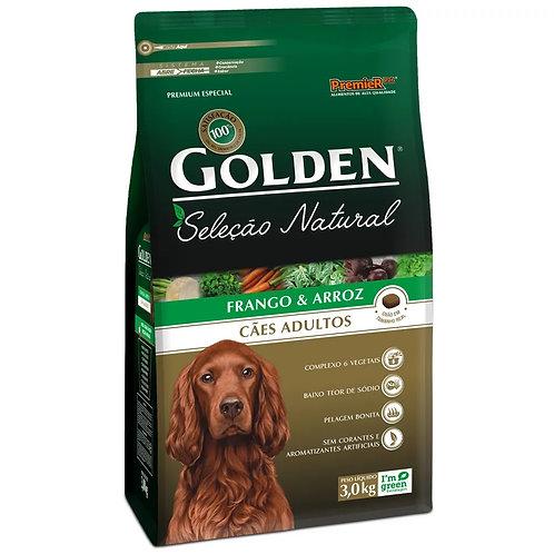 Ração Cães Adultos Golden Seleção Natural Frango e Arroz