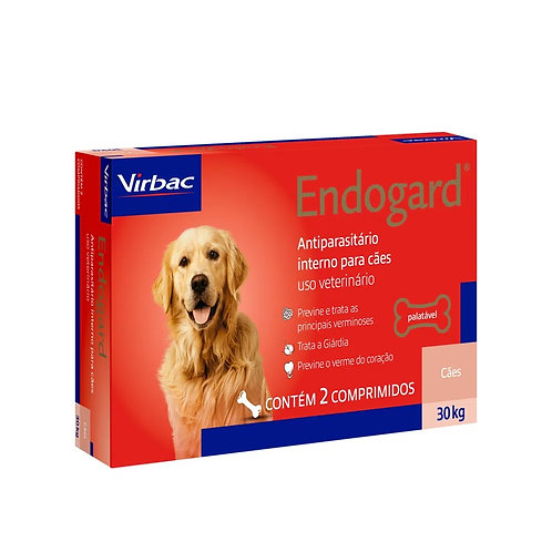 Vermífugo Endogard Cães até 30kg Virbac (264830)