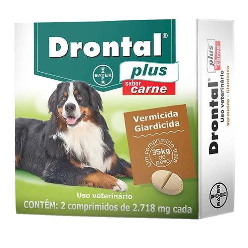 Vermífugo Drontal Plus Cães Sabor Carne Bayer de 35kg
