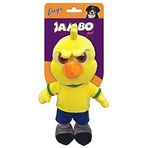 Brinquedo Mordedor De Cachorro Canário Pelucia Jambo