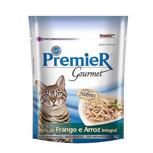 Alimento Úmido Premier Gatos Gourmet Frango e Arroz Integral 70g