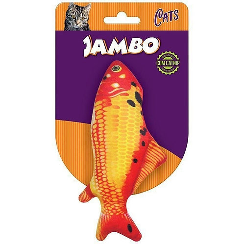 Brinquedo Gato com Catnip Peixe Real Fish Carpa Jambo Pet