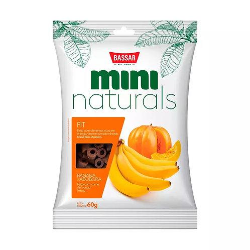 Snacks Bassar Mini Naturals Fit Banana & Abóbora