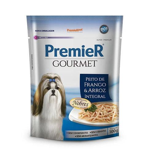 Alimento Úmido Premier Cães Gourmet Frango e Arroz Integral 100g