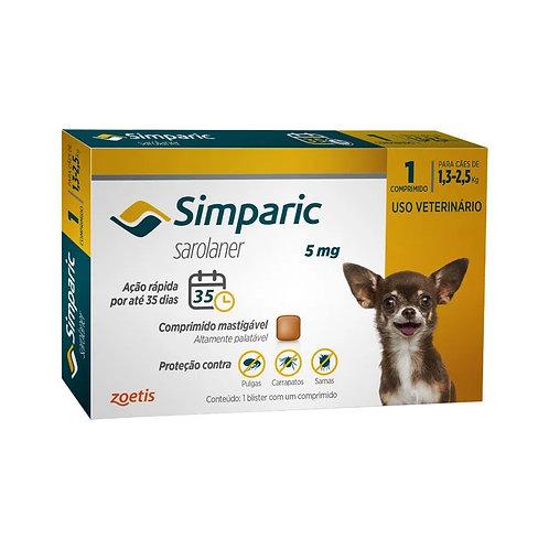 Antipulgas Cães Simparic 5mg 1,3 à 2,5kg Zoetis (258289)