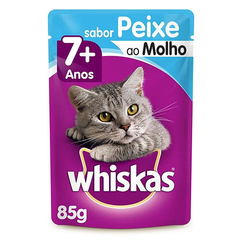 Alimento Úmido Whiskas 7+ Peixe ao Molho 85g (306870)