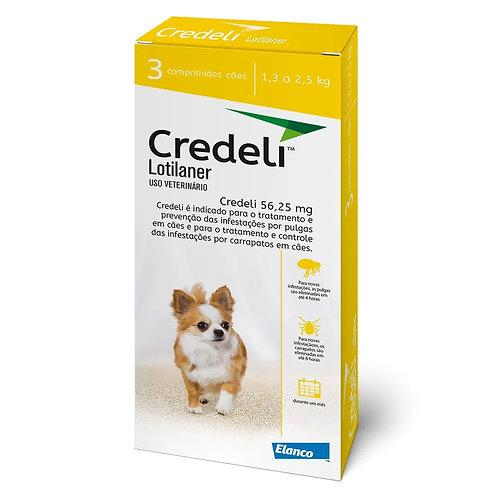 Antipulgas Credeli 56,25mg Cães 1,3 a 2,5kg