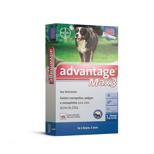 Antipulgas Advantage Max3 Cães mais de 25kg Bayer