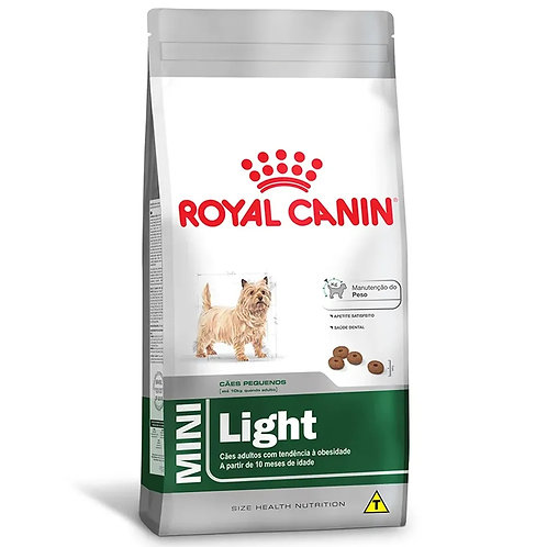 Ração para Cães Adultos Raças Mini Royal Canin Light