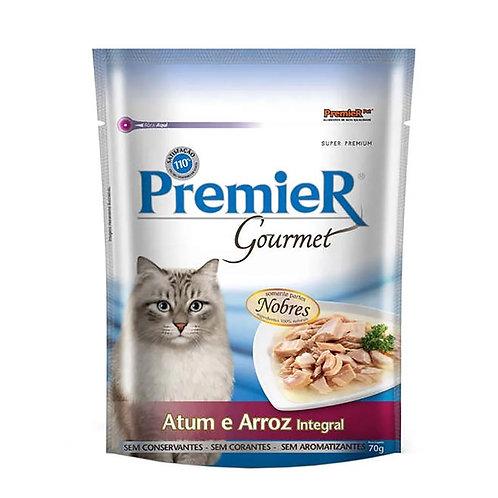 Alimento Úmido Premier Gatos Gourmet Atum e Arroz Integral 70g (257127)