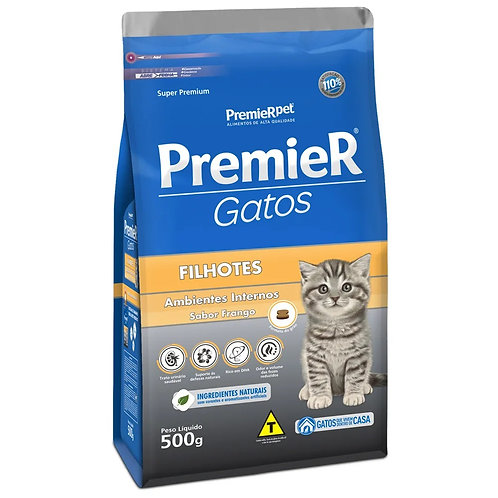 Ração Premier Gatos Filhote Ambientes Internos Frango