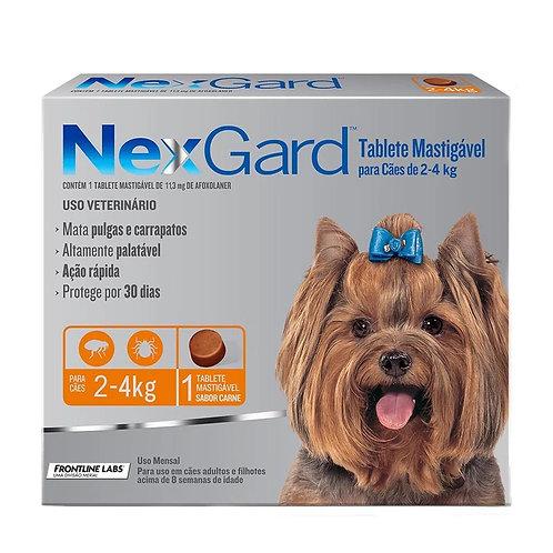 Antipulgas e Carrapatos NexGard para Cães de 2 a 4kg