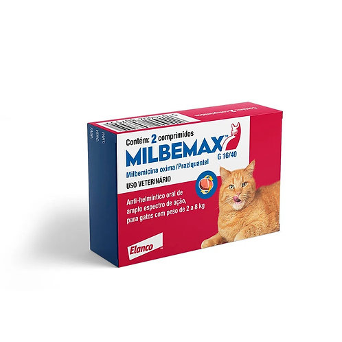 Vermífugo Milbemax G Gatos Elanco 2 a 8kg