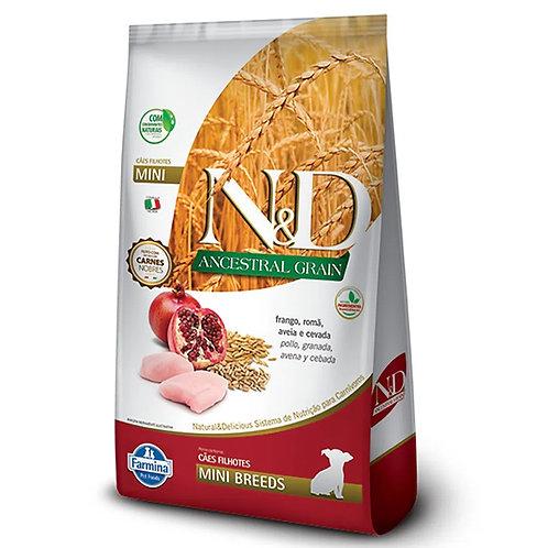 Ração N&D Ancestral Grain Cães Puppy Mini Frango (257526 / 257527)