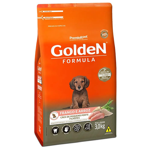 Ração para Cachorro Filhote Raças Pequenas Golden Fórmula Frango e Arroz