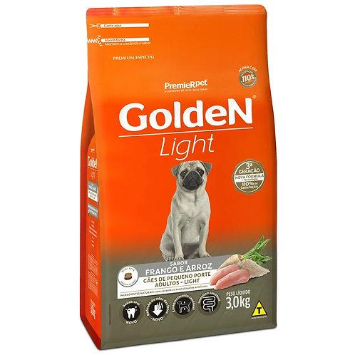 Ração para Cães Adultos Raças Pequenas Golden Fórmula Light Frango e Arroz