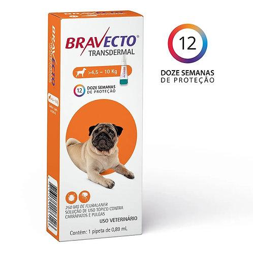 Antipulgas Bravecto Transdermal 250mg Cães 4,5 a 10kg