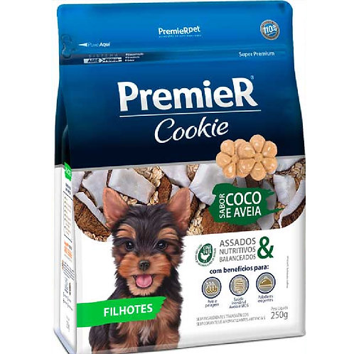 Petisco Premier Cookie Cães Filhotes Coco e Aveia