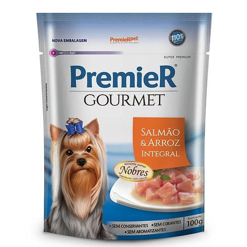 Alimento Úmido Premier Cães Gourmet Salmão e Arroz Integral 100g (257125)