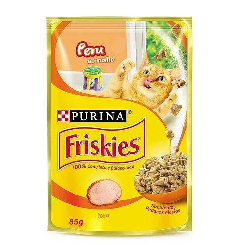 Ração Úmida Nestlé Purina Friskies Peru ao Molho Gatos Adultos 85g (309290)