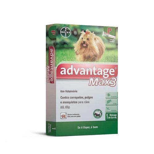 Antipulgas Advantage Max3 Cães até 4kg Bayer
