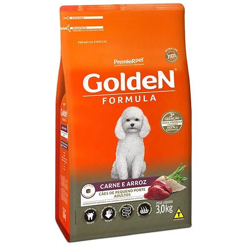 Ração para Cães Adultos Raças Pequenas Golden Fórmula Carne e Arroz